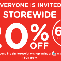 Watsons: Enjoy STOREWIDE 20% OFF with Minimum $38 Spend In Stores & Online