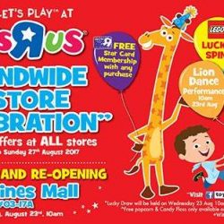 "Toys""R""Us: Island-wide Salebration with Half Price Deals!"
