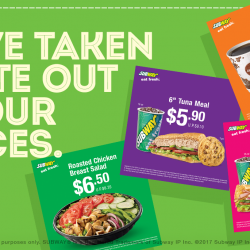 Subway: Save up to $8.90 with Coupons for Dine-in and Takeaway!