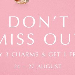 Pandora: Buy 3 Charms & Get 1 FREE for 4 Days Only!