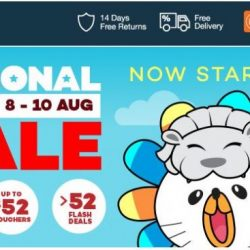 Lazada: National Day Sale with Up to 90% OFF, Up to $52 Vouchers & More!