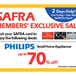 Safra: Members' Exclusive Philips Sale Up to 70% OFF Philips Small Home Appliances