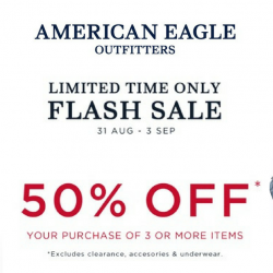 American Eagle Outfitters: 50% Storewide Flash Sale For A Limited Time only!