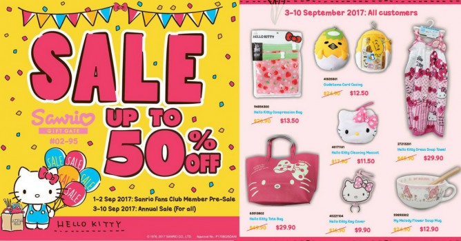 2430e10de Don't miss out on the Sanrio Sale of the Year at Sanrio Gift Gate, with  over 2,500 items at up to 50% off! Happening at Marina Square, Westgate and  Vivocity ...