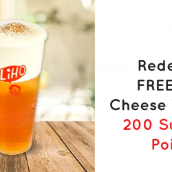 M1: Enjoy a FREE LiHO Cheese Tea with Just 200 SunPerks!
