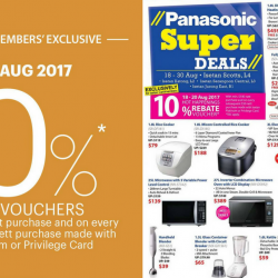 Isetan: Members Enjoy 10% Rebate Voucher at All Isetan Stores + Panasonic Super Deals