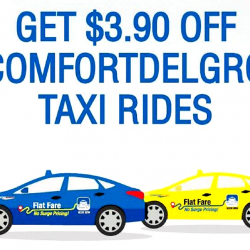 ComfortDelGro: Coupon Code for $3.90 OFF Taxi Rides for SAFRA Members