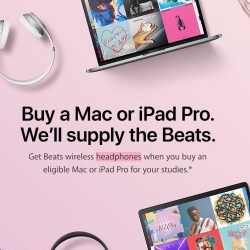 Apple Singapore: FREE Beats Wireless Headphones for Students with Mac or iPad Pro Purchase