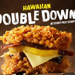 KFC: Zinger Double Down is Back with a Hawaiian Twist + NEW Spicy Potato Bites!