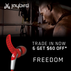 [Nübox] Trade in any of your wired or wireless earpiece and get $30/$60 off Jaybird X3(SRP $215) and Jaybird