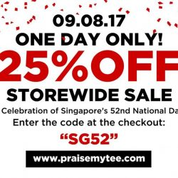 [Praise] Mark your calendar on 9th August in celebration of Singapore's 52nd National Day because we are having one day