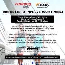 [Running Lab] If you've always wanted to improve your running technique or run timing, join us for this exclusive Running Workshop!