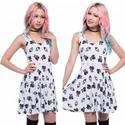 [Iron Fist Clothing] Just Added DEALZ Skull A Billy Skater Dress in stock now for only $26.