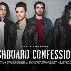[SISTIC Singapore] Tickets for DASHBOARD CONFESSIONAL - Live in Singapore goes on sale on 4 August 2017.