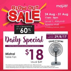 [MAYER] Tomorrow's our blowoutsale at Aperia Mall!