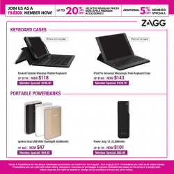 [Nübox] This month, enjoy savings on selected Zagg wireless keyboards and powerbanks, available now at all nübox stores!
