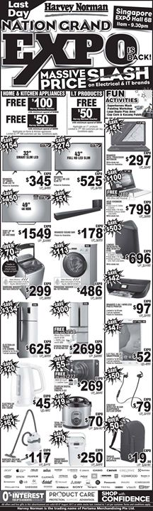 [Harvey Norman] LAST DAY to enjoy Massive Price Slash on your favourite Electrical and I.