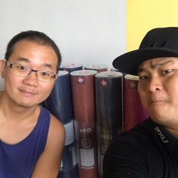 [Key Power Sports] Here's Elvin of Gepz receiving their Manduka Yoga Mat purchased yesterday here at Key Power Sports Anniversary Sales.