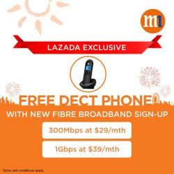 [M1] Receive a free dect phone when you sign-up for a new M1 Fibre Broadband plan from now till 8
