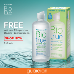 [Guardian] Advanced lens care inspired by the biology of our eyes, BIOTRUE multi-purpose solution offers up to 20 hours of