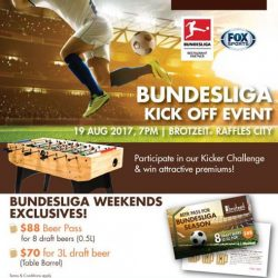 [Brotzeit German Bier Bar and Restaurant] One day to go for our Bundesliga Season Kick Off!