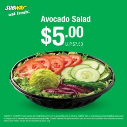 [Subway Singapore] Have a green start to your afternoon and get an Avocado salad.