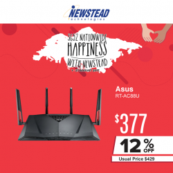 [Newstead Technologies] Have a fast and stable wireless connection at home with Asus RT-AC88U wireless router, now with promotional price of $