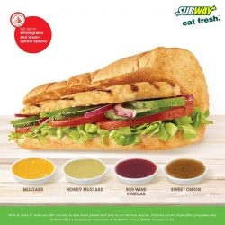[Subway Singapore] Did you know that all our Subs are below 500 calories when paired with one of these fat-free sauces?