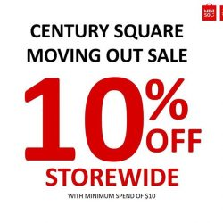 [Miniso] It's our last weekend at Century Square!