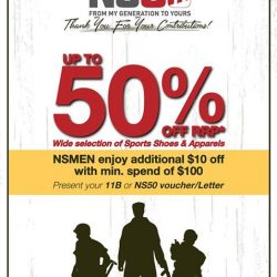 [Sportslink] Let's celebrate NS50~To thank all NSMEN for the contribution, NSMEN can enjoy $10 off with min.