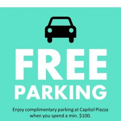 [CYC The Custom Shop] Enjoy free parking at Capitol Piazza daily with a minimum spend of $100 in a day.