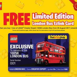 [The Brick Shop] If you have miss out on the 1st Limited Edition London Bus EzLink card, here yours final chance to grab