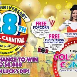 [WTS TRAVEL] We're hosting our 28th anniversary with a travel carnival at AMK Hub!
