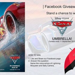 [Filmgarde Cineplex] Stand a chance to win Disney/Pixar's Cars 3 Movie Premiums!