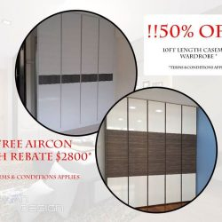 [G'PLAN] Limited time offer, 50% offer on 10ft Length wardrobe* HDB Reno packages prices starting from as low as $9,980,