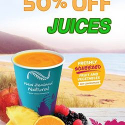 [New Zealand Natural Café] Our promotion of 50% off all juices is coming to an end!