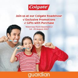 [Guardian] Head down to our Colgate Singapore Roadshow at Waterway Point (Basement 2) this weekend for exclusive promotions and gifts with