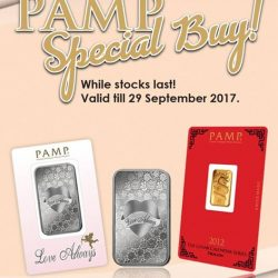 [The Singapore Mint] Get these PAMP ingots at a special promotional price, valid until 29 September only.