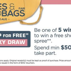 [BHG Singapore] Shoes & Handbags 'SHOP FOR FREE' Lucky Draw (11 - 20 Aug) 🍀Be one of our 5 very lucky winners to win