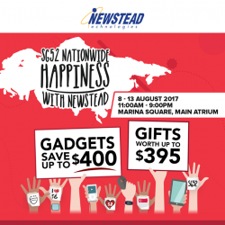 [Newstead Technologies] Celebrating our Beloved Nation's 52th Birthday this week, we are having a roadshow happening today at Marina Square Main