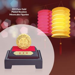 [CITIGEMS] Bring joy to your reunion celebrations with the 999 Pure Gold Plated Reunion Mooncake Figurine, a gift perfect for family