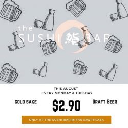 [The Sushi Bar Dining] Last two weeks of sake and beer promo.
