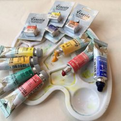 """[""""K""""rafers' Paradise] Maimeri Venezia Watercolor Review & Color ChartVenezia is another range of Maimeri watercolors which are made out of eco-compatible"""