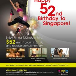[Amore Fitness] Celebrate Singapore's birthday month with us!