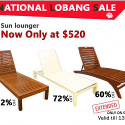 [Natural Living] Come down to Natural Living this weekend to get your favourite sunlounger!
