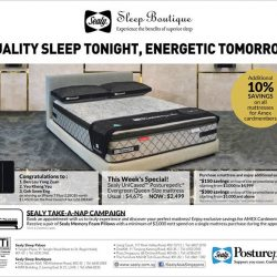 [Sealy Singapore] Come on down to Sealy Sleep Palace and Sleep Boutiques this weekend to check out the latest promotions for our