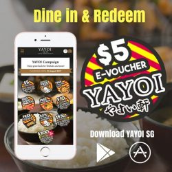 [YAYOI Japanese Teishoku Restaurant] We would like to thank all our diners for participating in our Dine & Redeem reward this month!