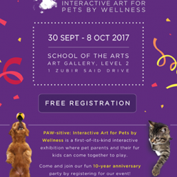 [Pet Lovers Centre Singapore] As part of its 10th Anniversary celebration in Singapore, Wellness is holding the first ever interactive art exhibition for cats