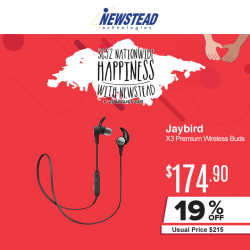 [Newstead Technologies] Jaybird X3 Premium wireless earbud is perfect for your active lifestyle, now with promotional price of $174.