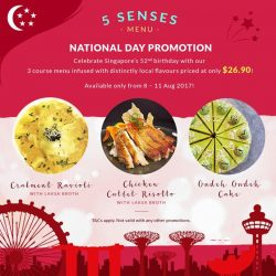 [ToTT Store] 5 Senses National Day promotion - try the exquisite 3 course menu planned specially for Singapore's 52nd Birthday!